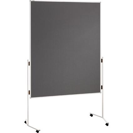 FRANKEN Moderationstafel ECO, 1.200 x 1.500 mm, Filz, grau