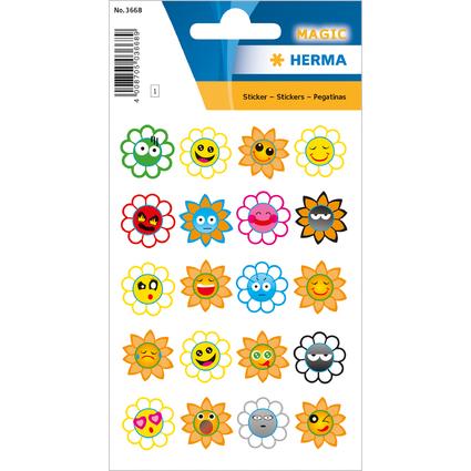 """HERMA Sticker MAGIC """"Crazy Suns"""", Puffy"""
