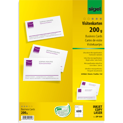 4004360924248 Upc Visitenkarten Business Cards 200gr 60