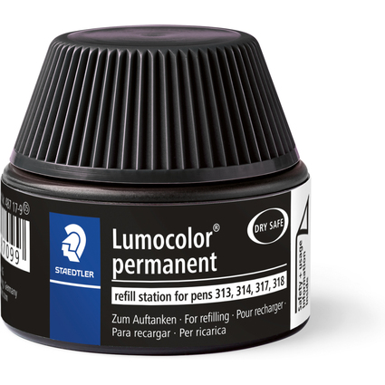 STAEDTLER Lumocolor Refill Station permanent, schwarz