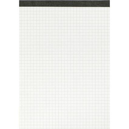 LANDRÉ Notizblock ohne Deckblatt, DIN A5, 50 Blatt, kariert