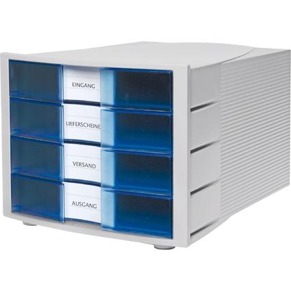 HAN Schubladenbox IMPULS, 4 Schübe, Gehäuse: lichtgrau