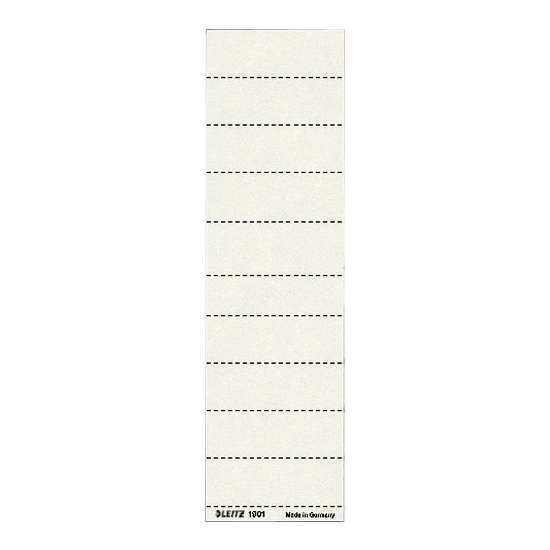 B 60 x LEITZ Blanko Beschriftungsschildchen H 21 mm weiß 4-zeilig 100 Stück