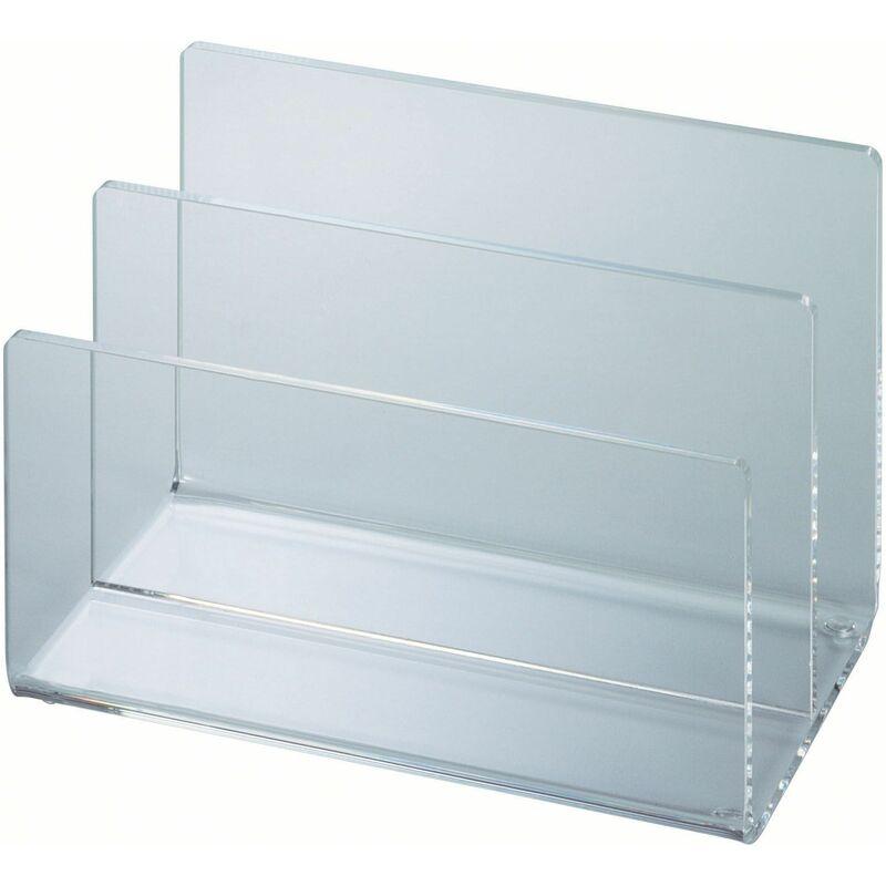 glasklar MAUL Kartenständer Acryl mit 2 Fächern