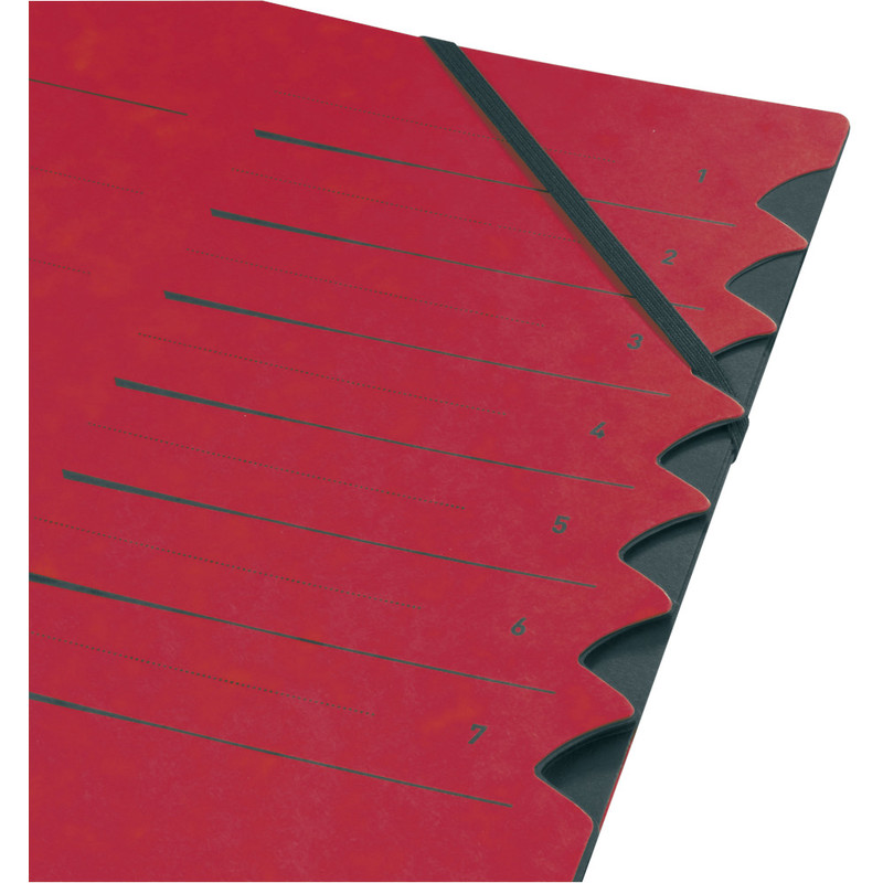 Herlitz Ordnungsmappe easyorga A4 Karton 7 Fächer rot