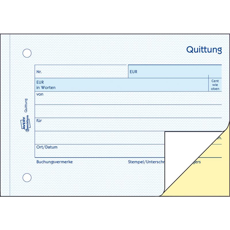Avery Zweckform Formularbuch Quittung Ohne Mwst Sd 1742 Bei Www