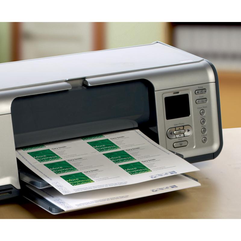 Avery Zweckform Quick Clean Visitenkarten Weiß 200 G Qm