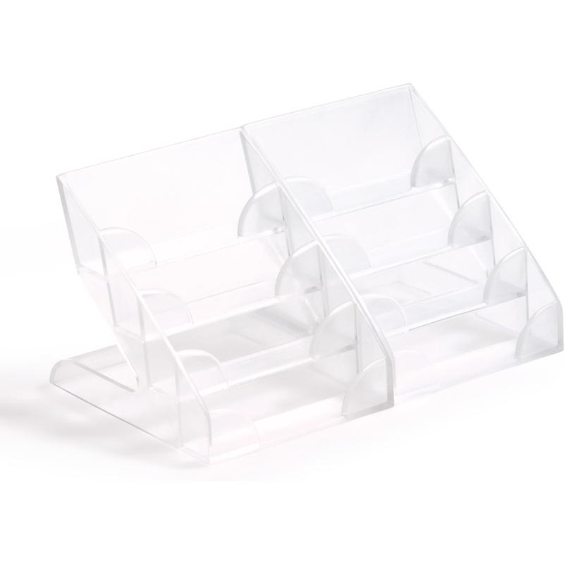 Durable Visitenkarten Aufsteller Hartplastik Mit 4 Fächern