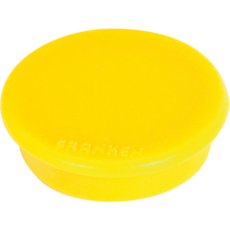 FRANKEN Haftmagnet Haftkraft 100 g Durchmesser 13 mm gelb 10 Magente