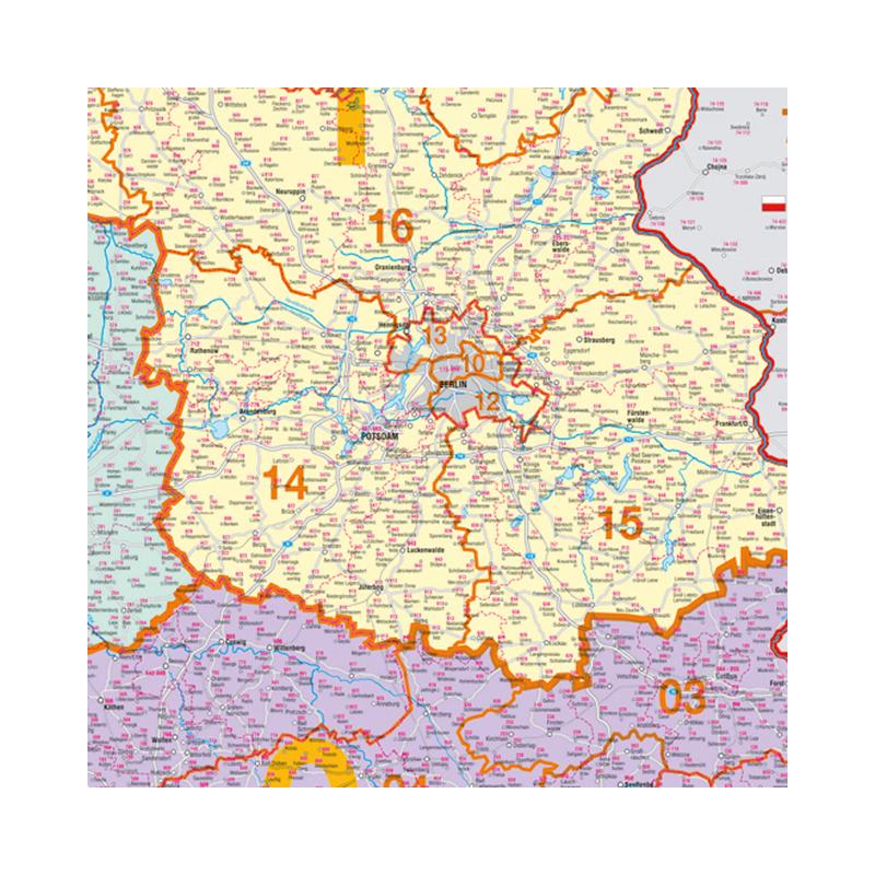 Postleitzahlen Karte.Franken Deutschland Postleitzahlen Karte Pinnbar