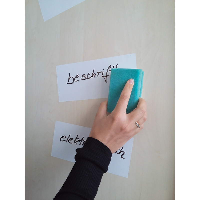 FRANKEN Moderationskarte 95 x 205 mm selbsthaftend weiß 100 Karten