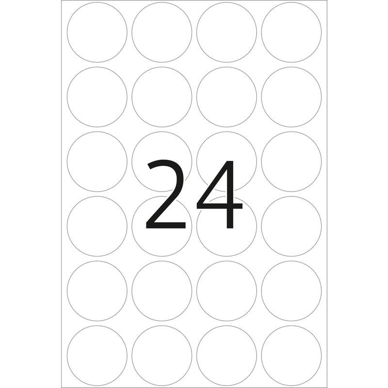 Vielzwecketiketten weiß Ø 25 mm rund Papier matt 768 St Herma