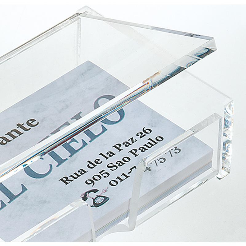 Sigel Visitenkarten Box Acryl Glasklar Mit Deckel