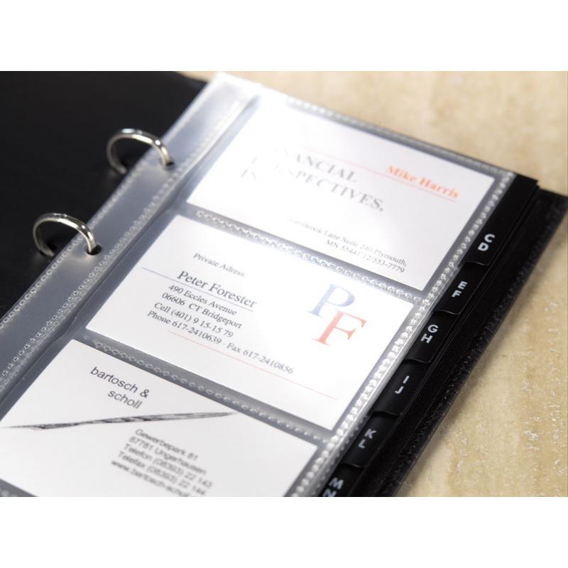 Sigel Visitenkarten Hüllen Einreihig Für 80 Karten