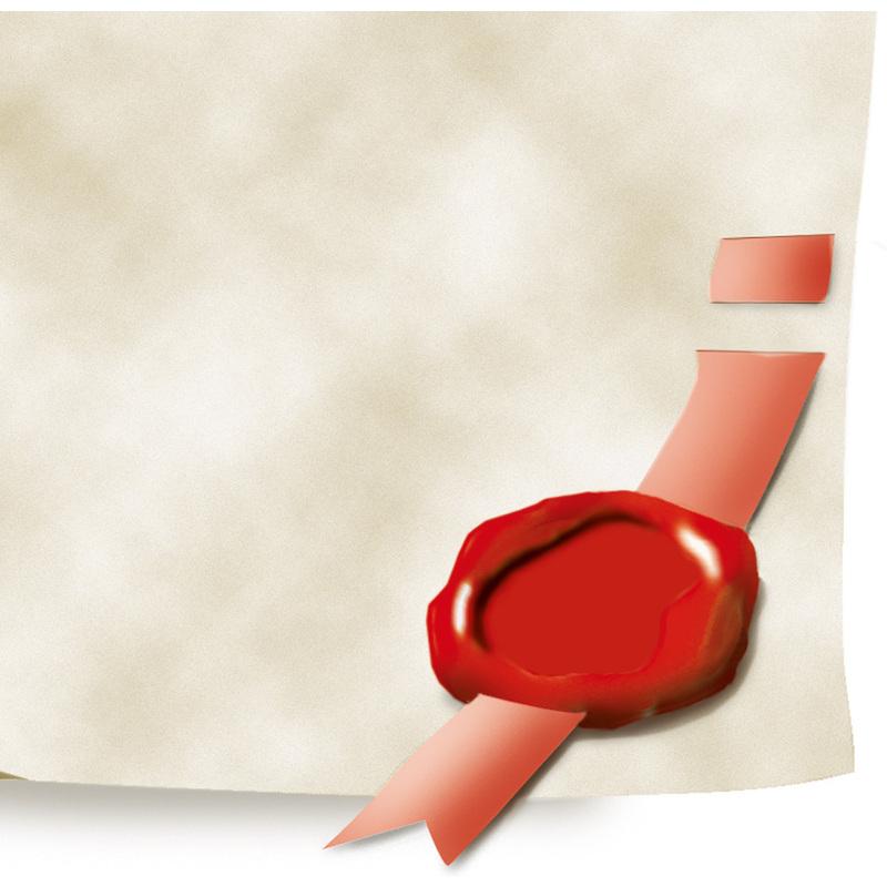 sigel Design-Papier DIN A4 185 g//qm Motiv Urkundenrolle Urkunde 12 Blatt