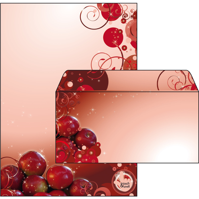 sigel weihnachts briefpapier set bratapfel inkl. Black Bedroom Furniture Sets. Home Design Ideas