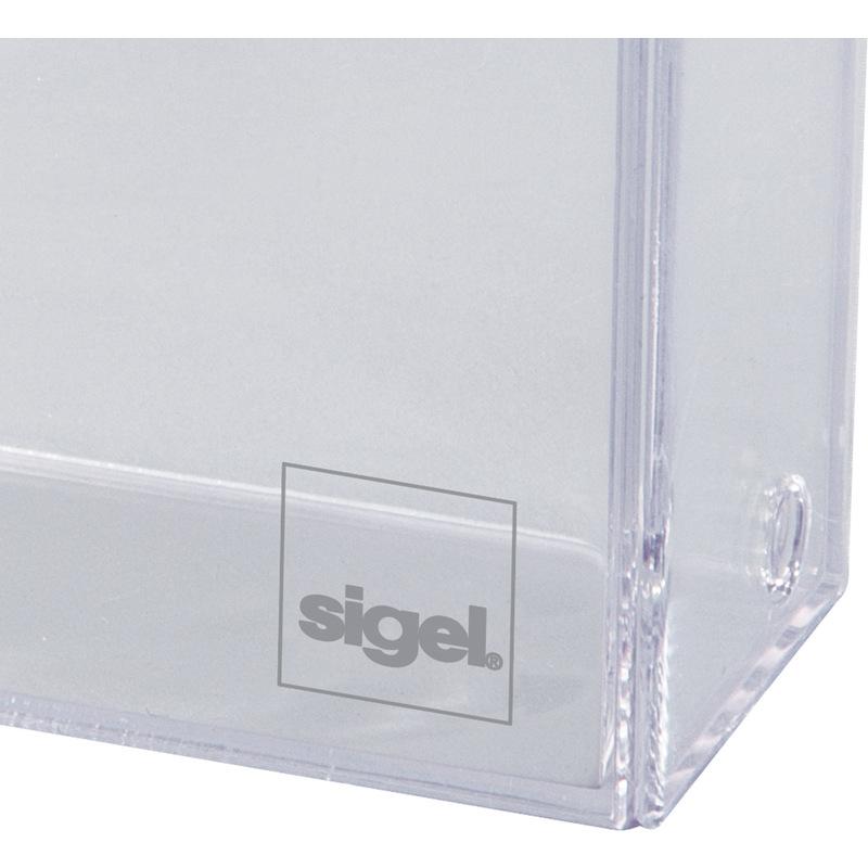 Sigel Visitenkarten Box Hartplastik Glasklar Mit Deckel