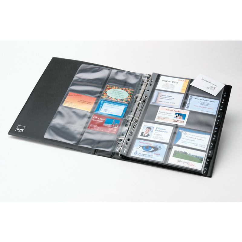 Sigel Visitenkarten Hüllen A4 Zweireihig Für 200 Karten
