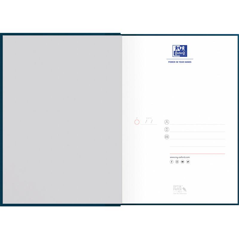 "gebunden Oxford Notizbuch /""Smart Black/"" DIN A5 kariert"
