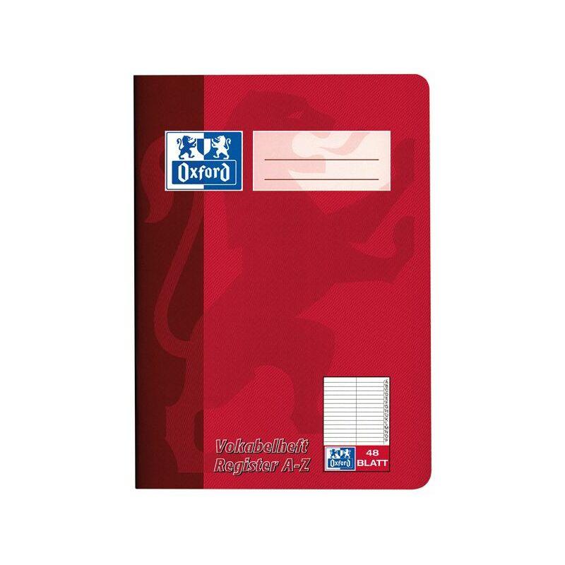Oxford Vokabelheft mit Register DIN A5 2-spaltig 48 Blatt