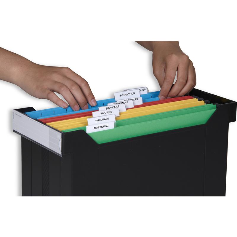 ELBA Hängeregistratur Box go set gefüllt schwarz mit 8 Hängemappen