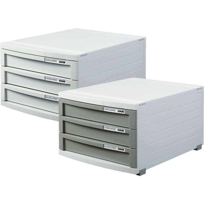 han schubladenbox contur 3 sch be lichtgrau 1503 11 bei g nstig kaufen. Black Bedroom Furniture Sets. Home Design Ideas