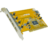 EXSYS usb 2.0 pci Karte, 32 Bit, 4 + 1 Port, via Chipsatz