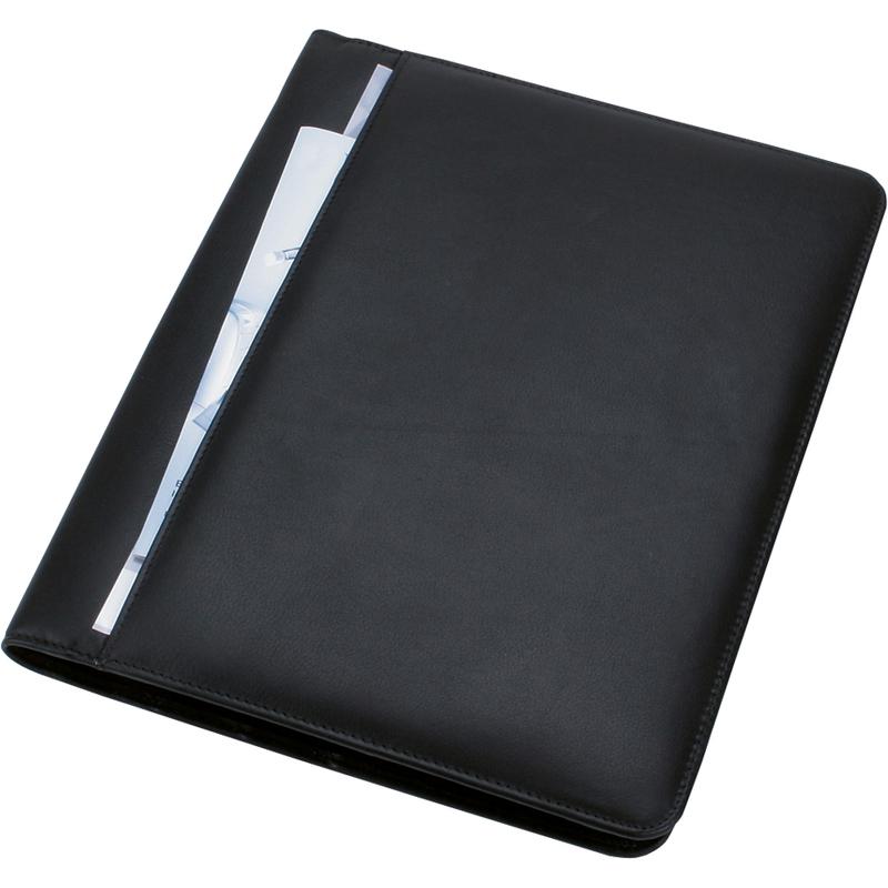 Alassio Schreibmappe CREMONA DIN A4 Nappa-Leder schwarz