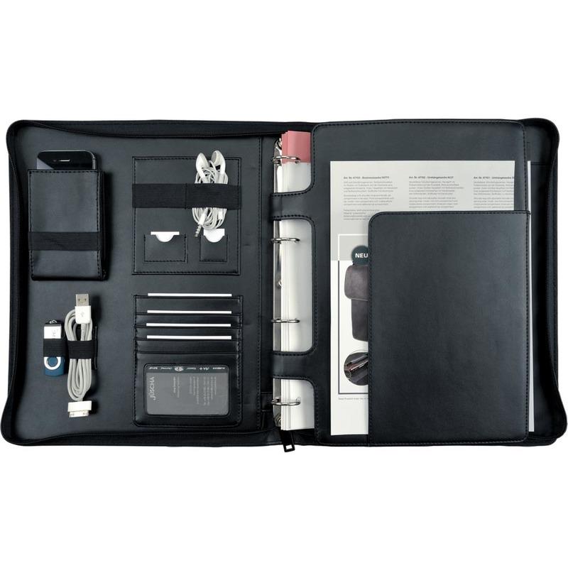 Alassio Tablet-PC Organizer Tablethülle IMPERIA DIN A4 Lederimitat schwarz