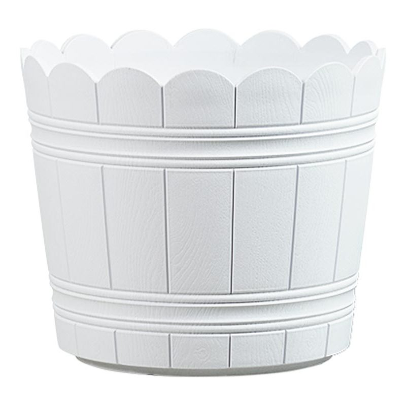 515263 weiß Durchmesser: 300 mm 4009049396071 emsa Blumenkübel COUNTRY