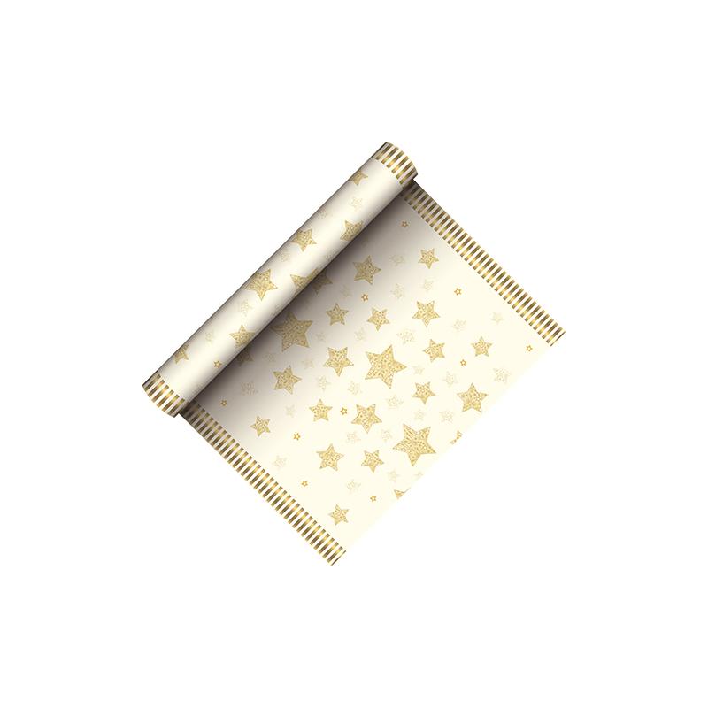 papstar weihnachts tischl ufer sparkling stars creme 85892 bei g nstig kaufen. Black Bedroom Furniture Sets. Home Design Ideas