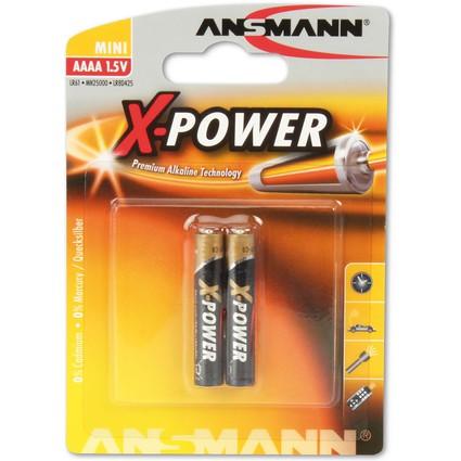 """ANSMANN Alkaline Batterie """"X-POWER"""" AAAA, 2er Blister"""