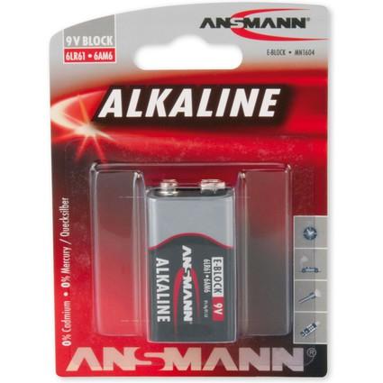 """ANSMANN Alkaline """"RED"""" Batterie, 9V E-Block"""