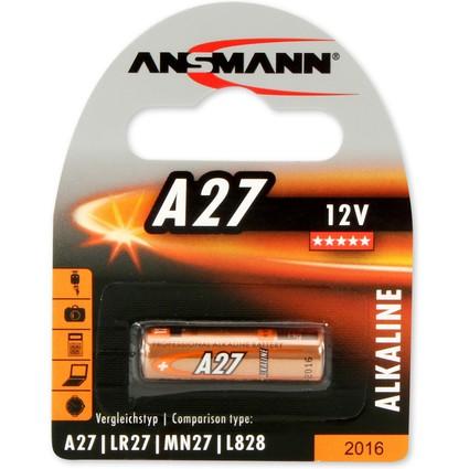 ANSMANN Alkaline Batterie A27, 12 Volt, 1er Blister