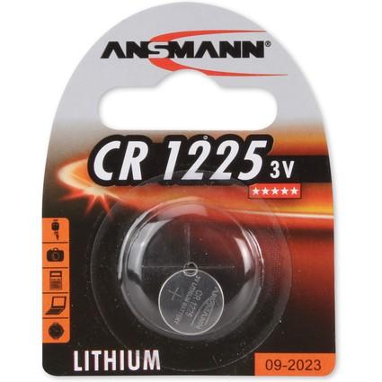 ANSMANN Lithium Knopfzelle CR1225, 3 Volt, 1er Blister