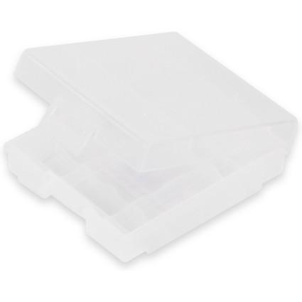 ANSMANN Akkubox 4-fach, Aufbewahrungsbox aus Poly-Propylen