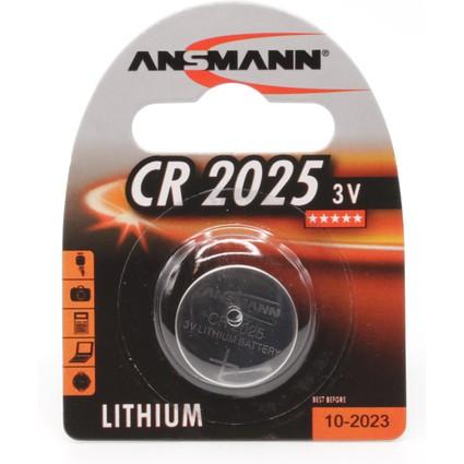 """ANSMANN Lithium Knopfzelle """"CR2025"""", 3,0 Volt, 1er-Blister"""