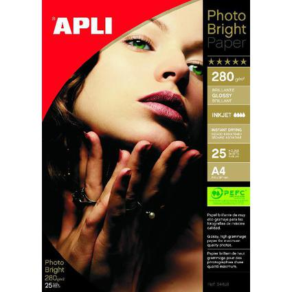 agipa Foto-Papier bright PRO, DIN A4, 280 g/qm, hochglänzend