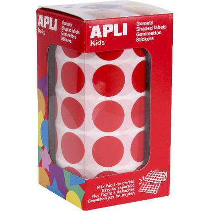 """agipa apli Kids Sticker Creative """"Rund"""", auf Rolle, rot"""