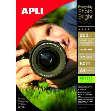 agipa Foto-Papier bright, DIN A4, 200 g/qm, hochglänzend
