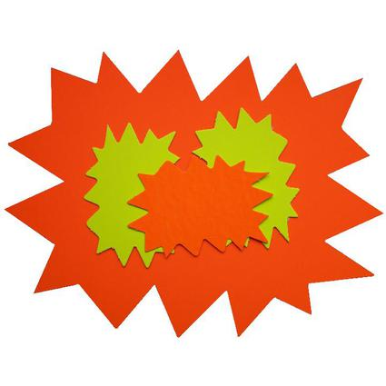 "agipa Signal-Etiketten ""Stern"", gelb/orange, 80 x 120 mm"