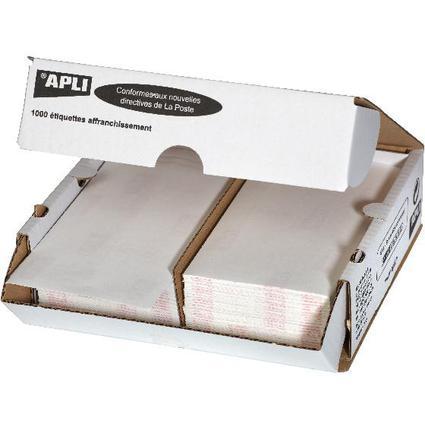 agipa Frankier-Etiketten, 175 x 45 mm, weiß, doppelt