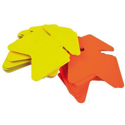 "agipa Symbol-Etiketten ""Pfeil"", gelb/orange, 120 x 160 mm"