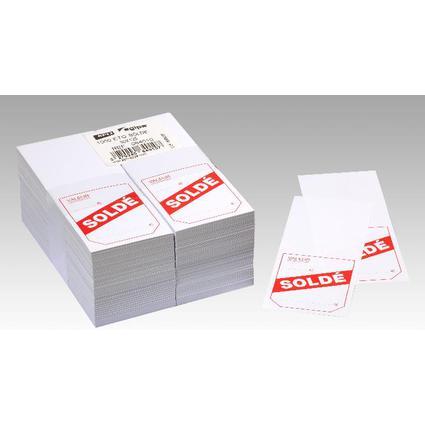 """agipa Etiquettes d'affichage prix """"Soldé"""", 50 x 125 mm"""