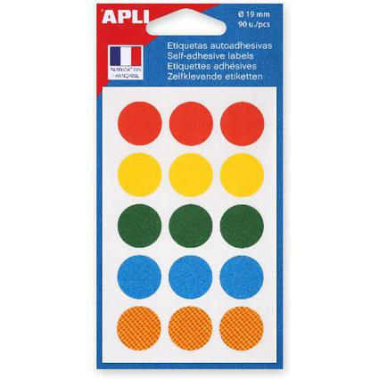 agipa Markierungspunkte, Durchmesser: 19 mm, rund, farbig