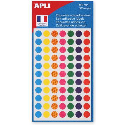 agipa Markierungspunkte, Durchmesser: 8 mm, rund, farbig