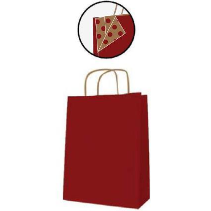 agipa Papiertragetasche - aus Kraftpapier, mittel, rot