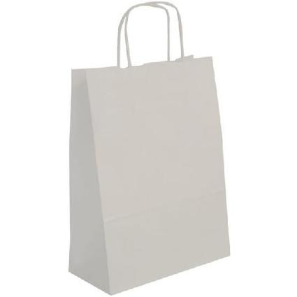 agipa Papiertragetasche - aus Kraftpapier, groß, weiß