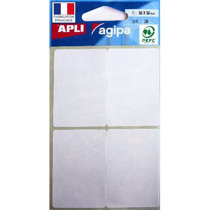 agipa Vielzweck-Etiketten, 38 x 58 mm, weiß