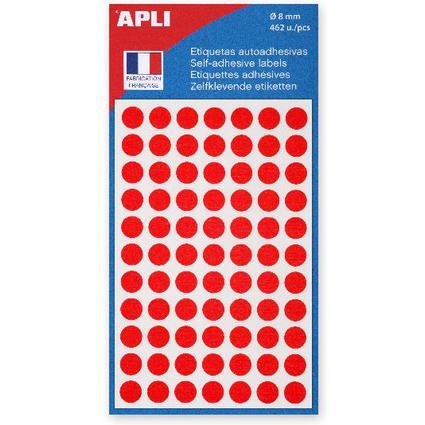 agipa Markierungspunkte, Durchmesser: 8 mm, rund, rot
